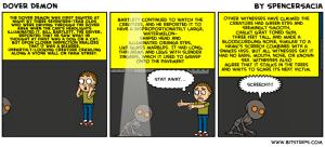 Dover Demon Cartoon