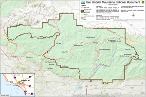 map of the new San Gabriel Mountains National Monument