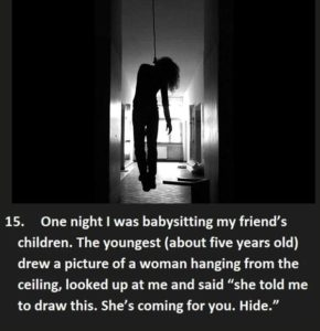 scary things kids have said to babby sitters