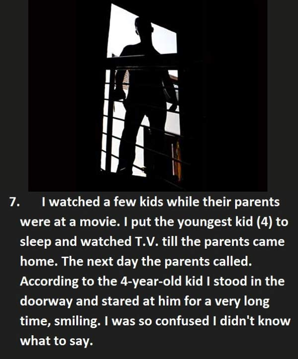 Creepy things said to baby sitter - Child reports having a shadow person stare at them