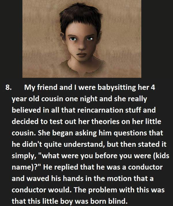 Creepy things said to baby sitter - Child tells babysitter about past life